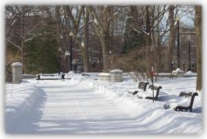 Errer dans les rues de Montréal et admirer les scènes d'hiver urbaines...