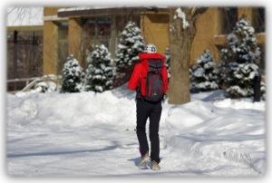 Allure sportive, allure d'un promeneur, allure d'une vieille personne... les rencontres de l'hiver sont brèves et marquées par des salutations d'usage