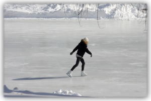 Sport solitaire contre l'ennui de l'hiver